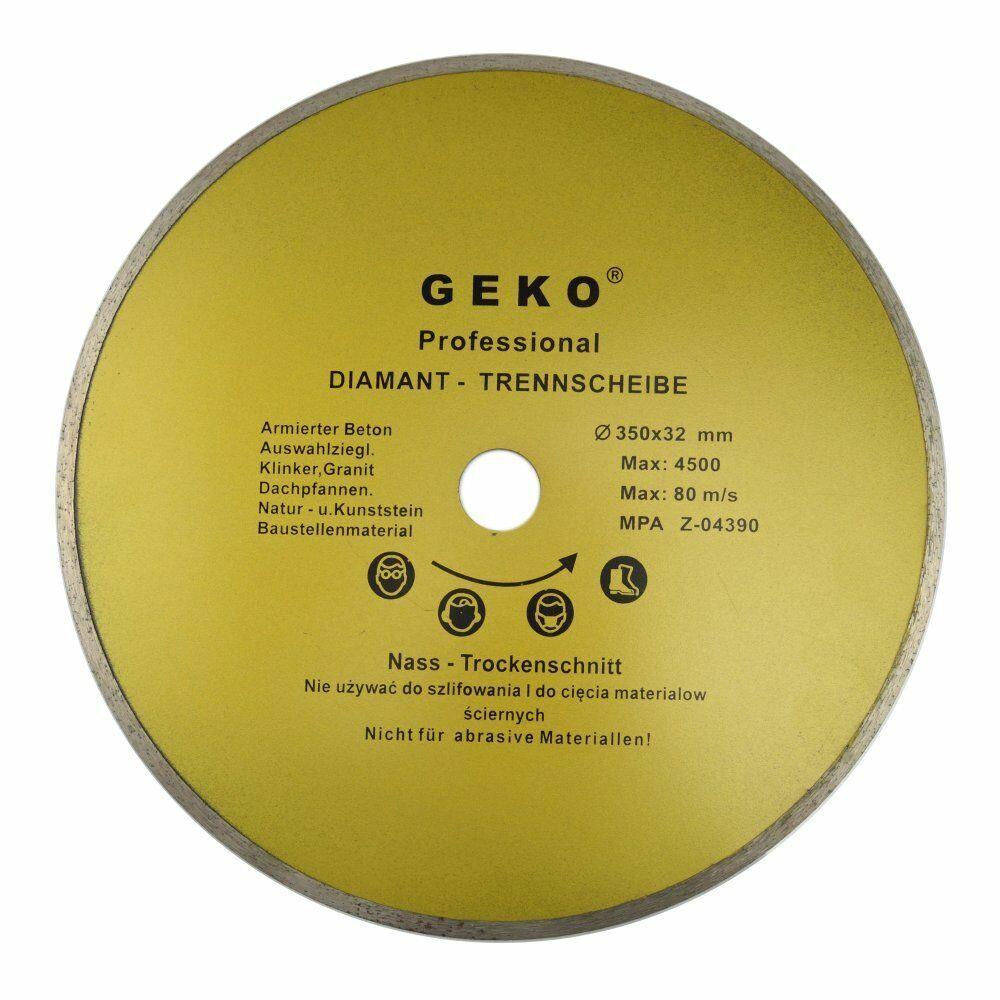 Diamantový řezný kotouč, 350x8x32mm, GEKO