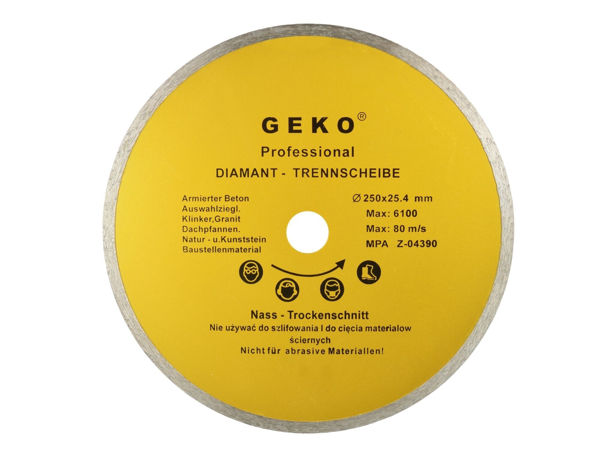 Kotouč diamantový řezný, 250x25,4mm, GEKO