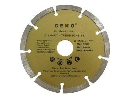 Diamantový řezný kotouč segmentový, 115x22mm, GEKO