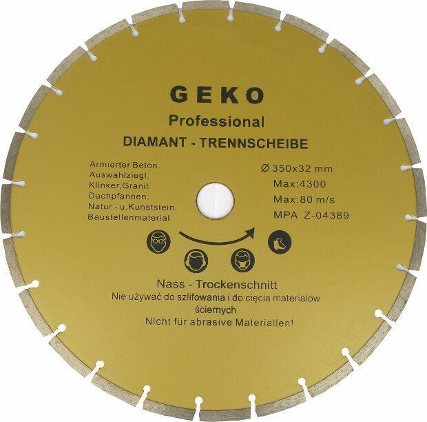 Diamantový řezný kotouč segmentový, 350x8x32mm, GEKO