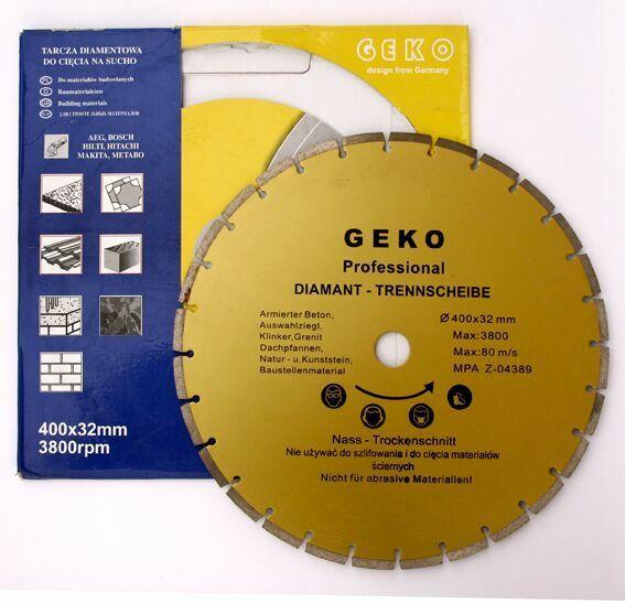 GEKO G00256 Diamantový řezný kotouč segmentový, 400x8x32mm