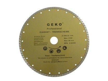 Diamantový řezný kotouč, TURBO, 230x22mm GEKO