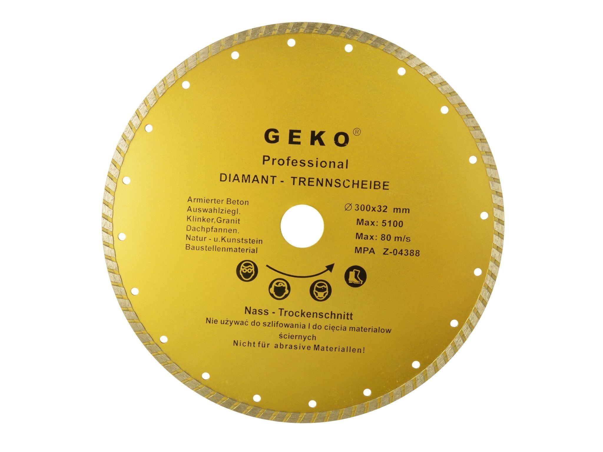 Diamantový řezný kotouč, TURBO, 300x8x32mm, GEKO G00265