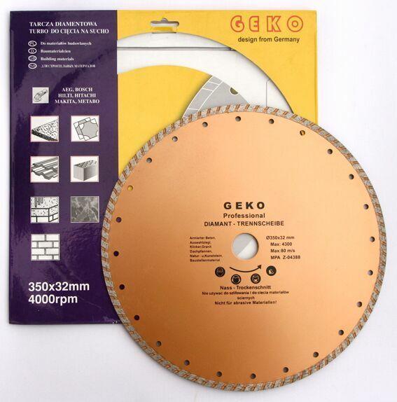 Diamantový řezný kotouč, TURBO, 350x8x32mm, GEKO