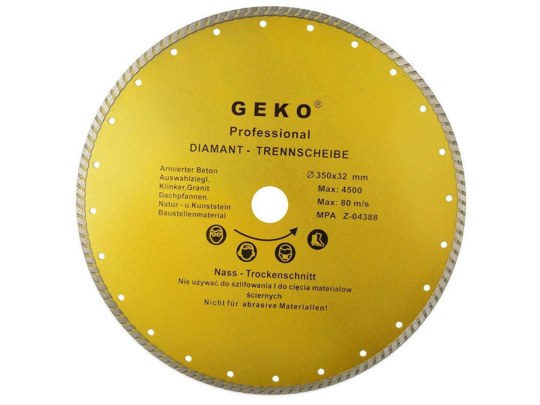 Diamantový řezný kotouč, TURBO, 350x8x32mm GEKO