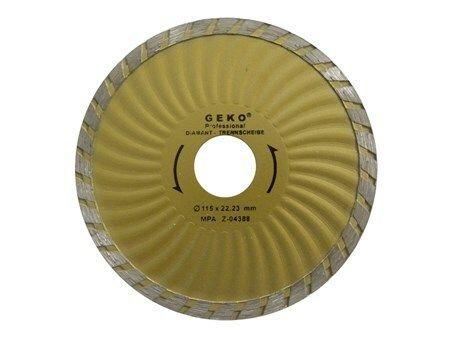 Diamantový řezný kotouč, TURBO PLUS, 115x22mm, GEKO G00270