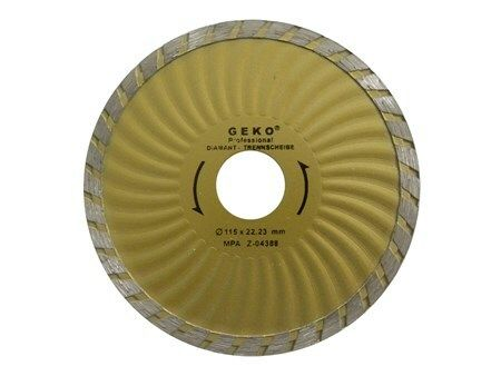 Diamantový řezný kotouč, TURBO PLUS, 180x22mm, GEKO G00272