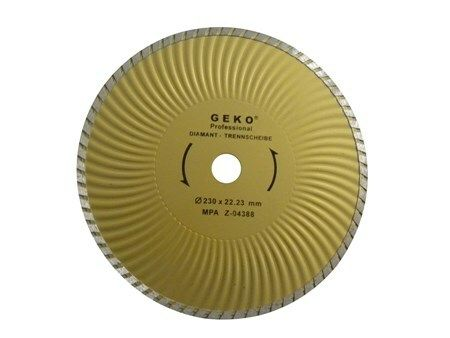 Diamantový řezný kotouč, TURBO PLUS, 230x22mm GEKO