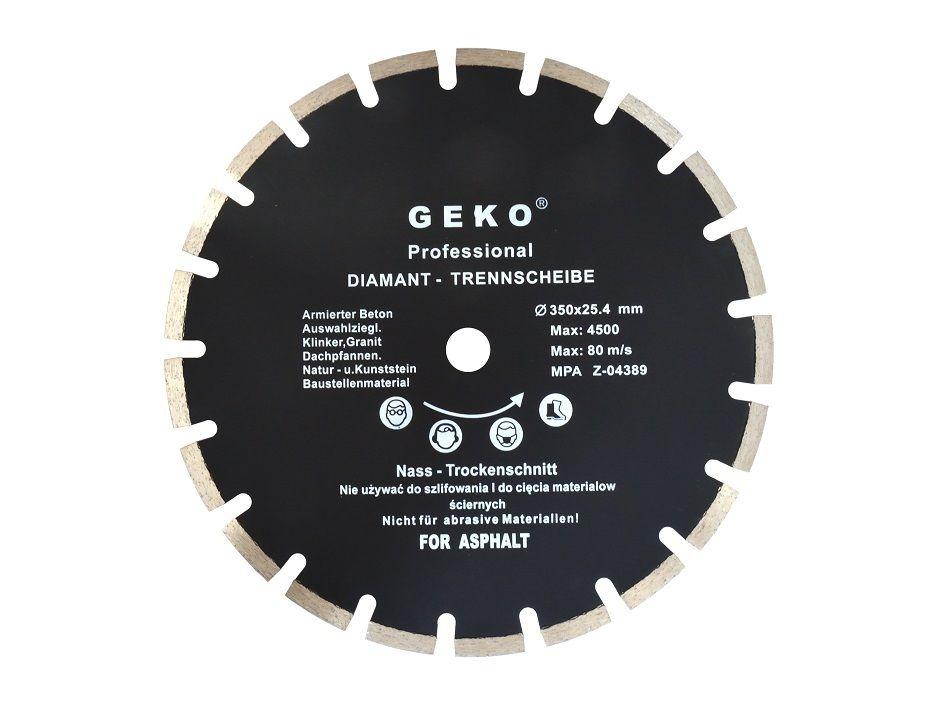 Diamantový řezný kotouč na asfalt, 350x25,4 mm GEKO