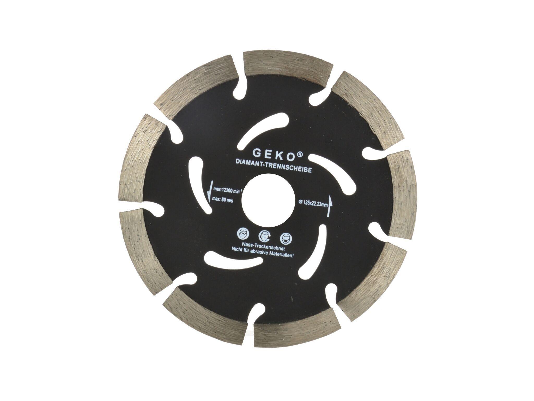 Diamantový řezný kotouč, segmentový, 125x22,2x10mm, GEKO G00287