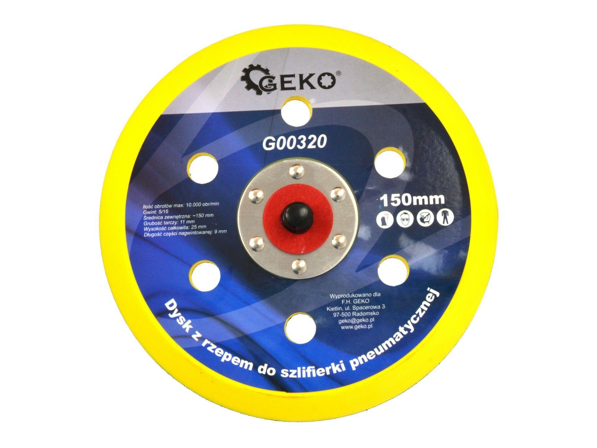 Kotouč na suchý zip pro vzduchovou brusku s průměrem 150 mm GEKO