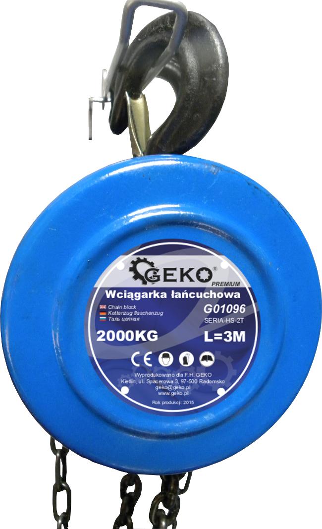 Kladkostroj řetězový 2000kg GEKO