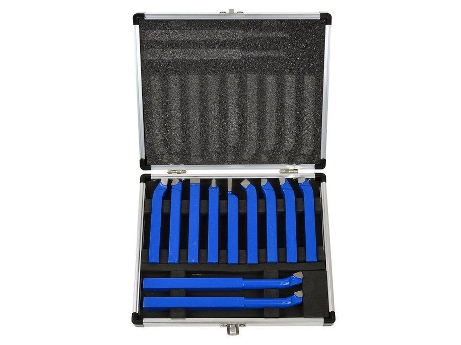 GEKO G01241 Soustružnické nože, sada 11ks, 10x10mm, uloženo v kufru