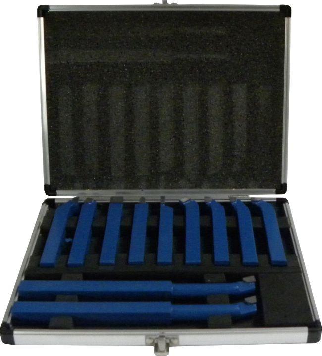 GEKO G01242 Soustružnické nože, sada 11ks, 12x12mm, uloženo v kufru