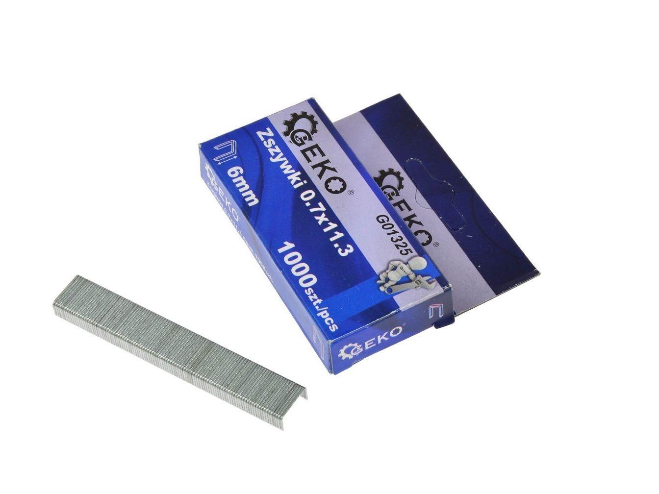 Sponky do sešívačky 0,7x11,3 6mm 1000 ks GEKO