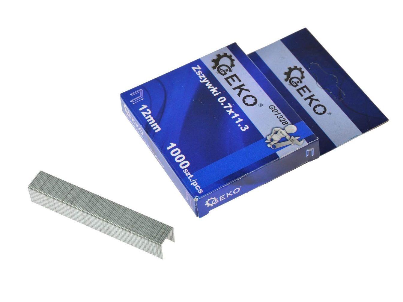 Sponky do sešívačky 0,7x11,3 12mm 1000 ks GEKO