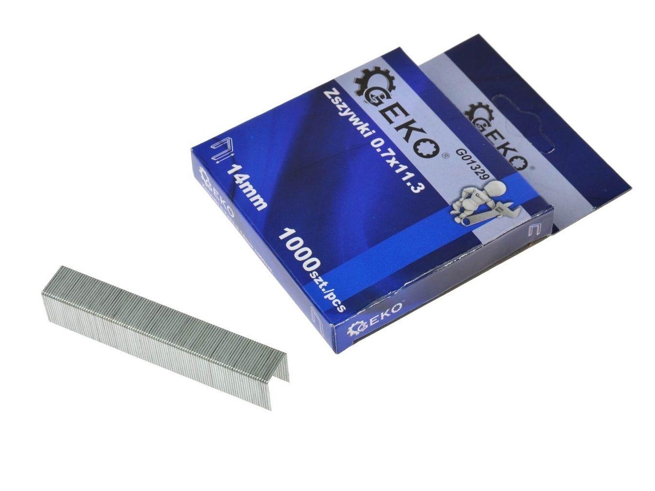 Sponky do sešívačky 0,7x11,3 14mm 1000 ks GEKO