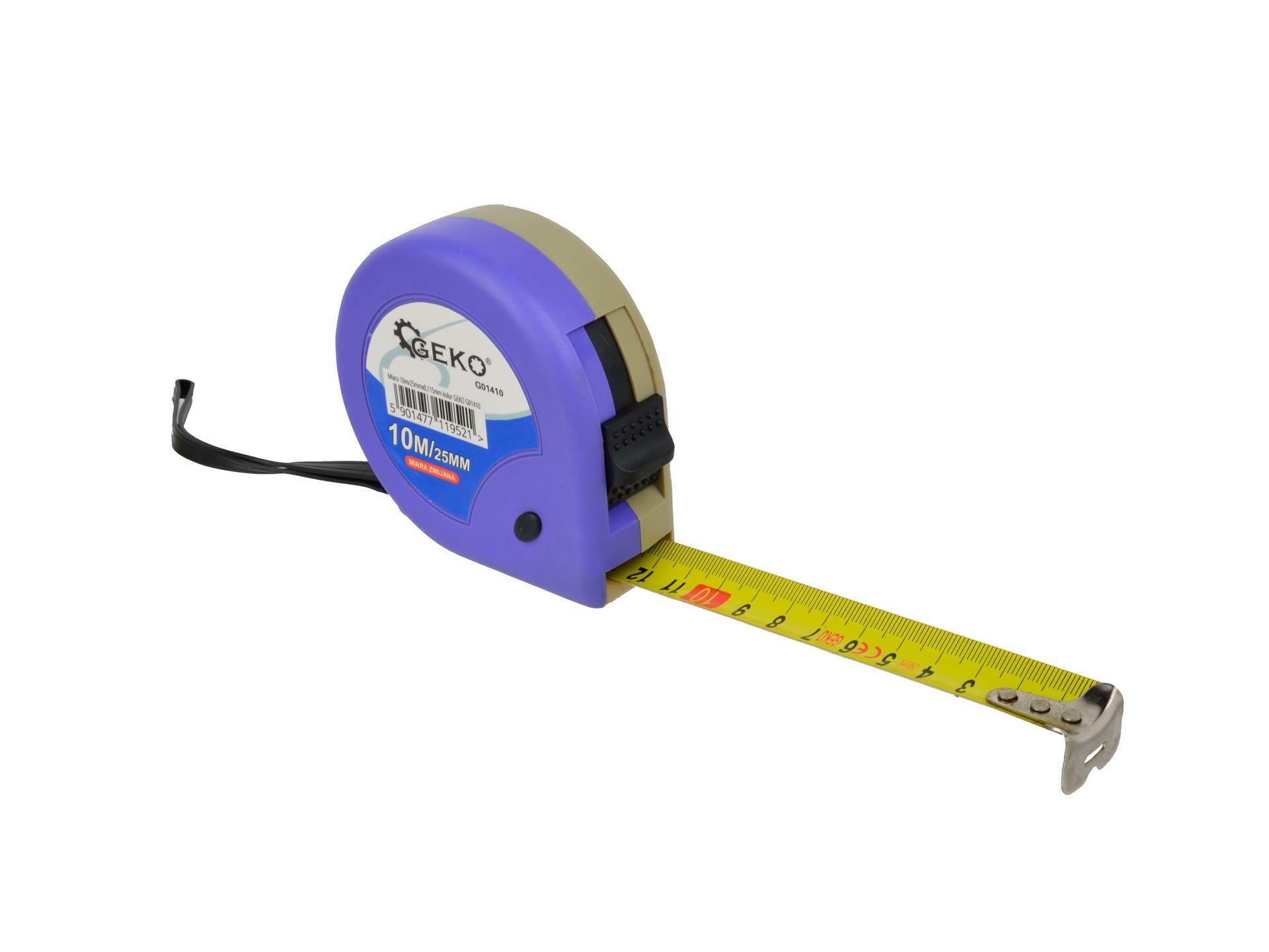 Metr svinovací, 10m, š. pásku 25mm, GEKO