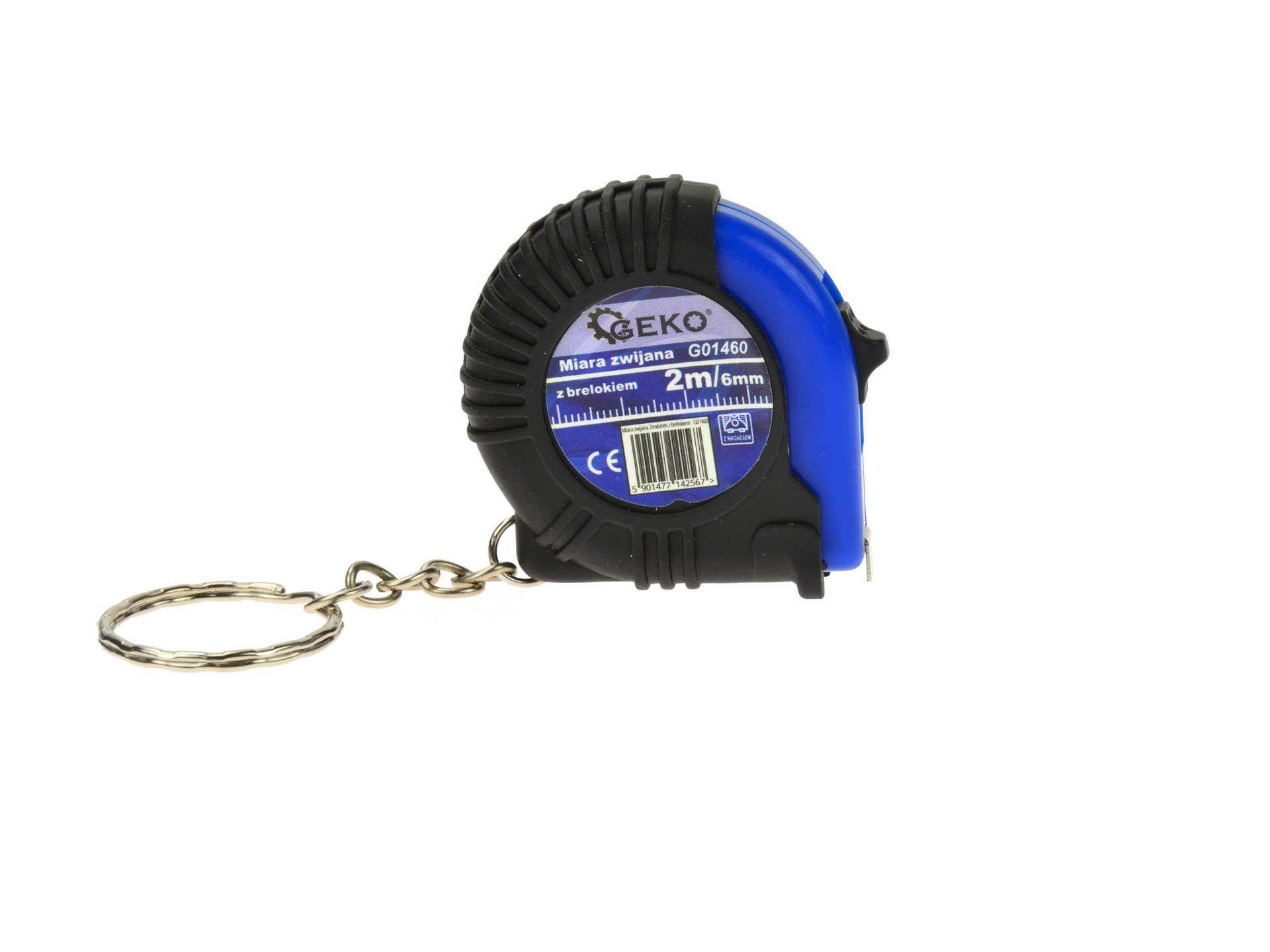 Svinovací metr 2mx6mm s klíčenkou GEKO