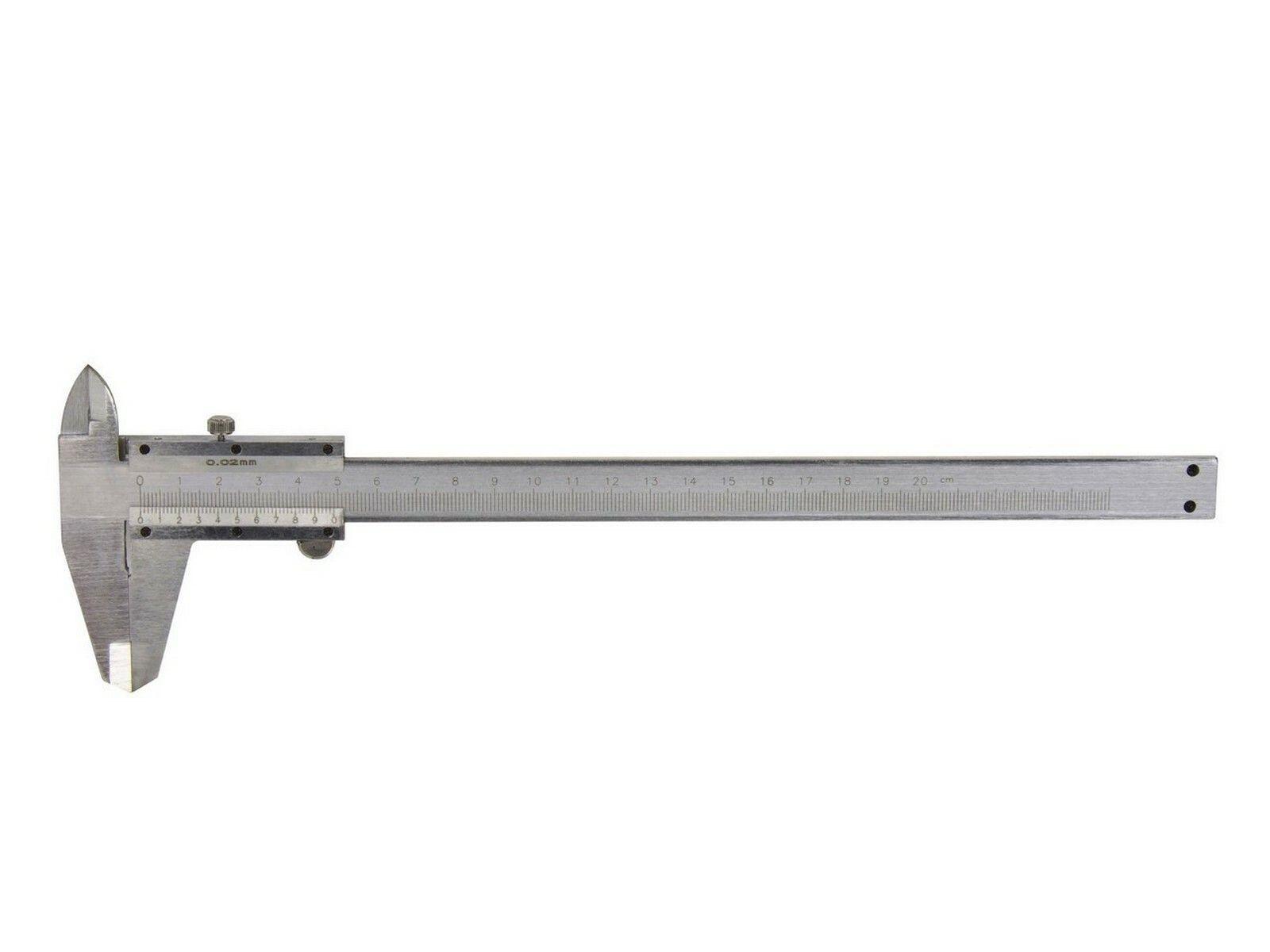 Měřítko posuvné kovové, 0-200mm x 0,02, GEKO