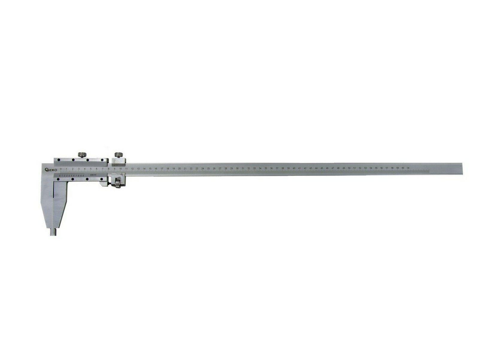 Měřítko posuvné kovové, 0-600mm x 0,05, GEKO