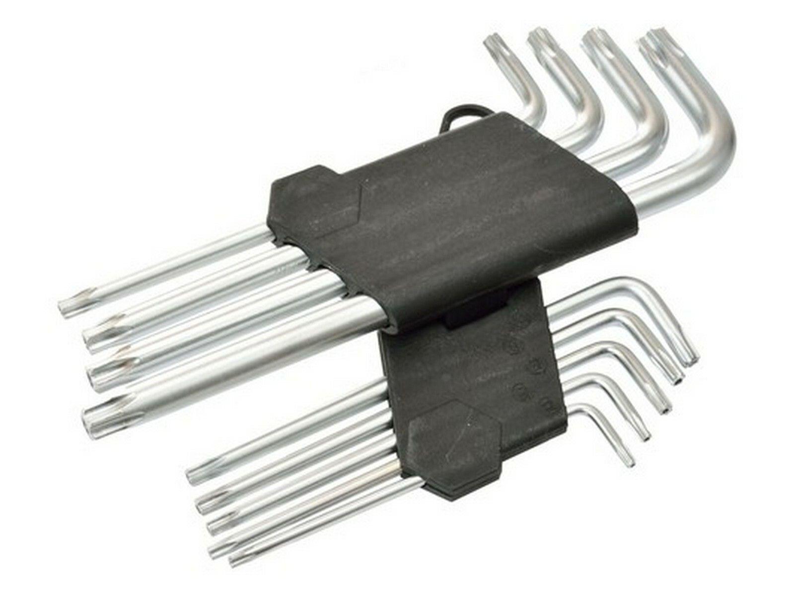 L-klíče TORX, sada 9ks, T10-T50, 190mm GEKO