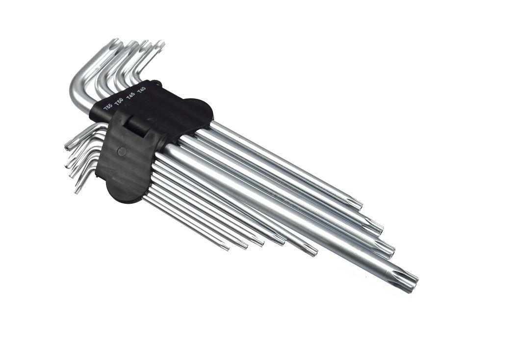 L-klíče TORX, sada 9ks, T15-T55, 260mm, GEKO