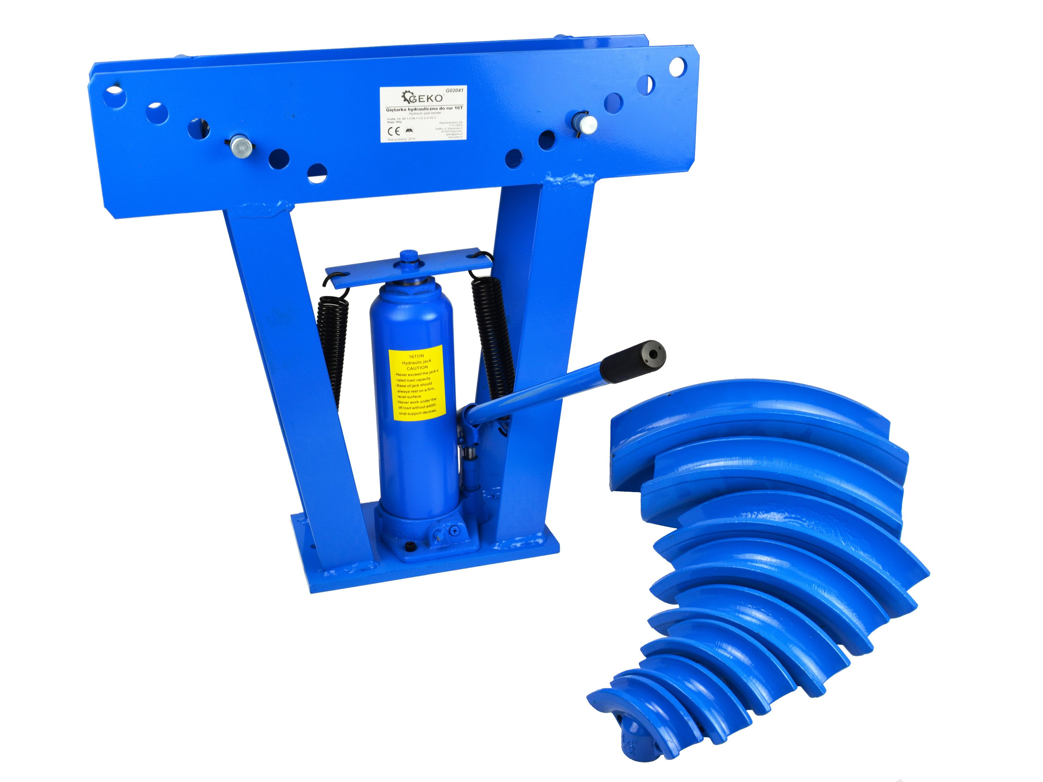 Hydraulická ohýbačka potrubí, 16T, GEKO, 2 krabice
