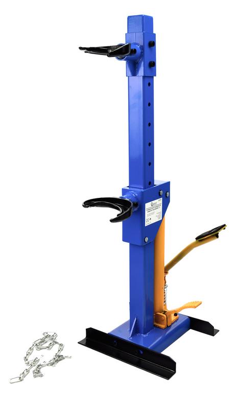 Stahovák pružin hydraulický 1T, nožní pumpa, GEKO