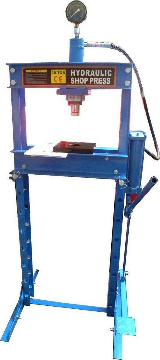 Hydraulický lis s manometrem a nožní pumpou, 20t, GEKO