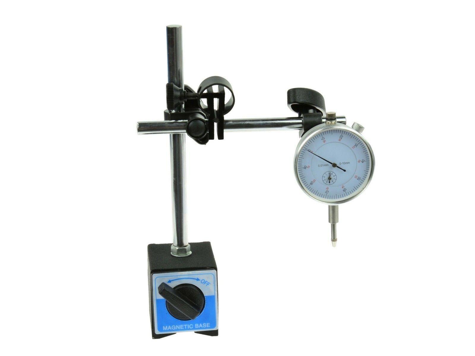 Automatický magnetický stativ + úchylkoměr, bez krabice GEKO