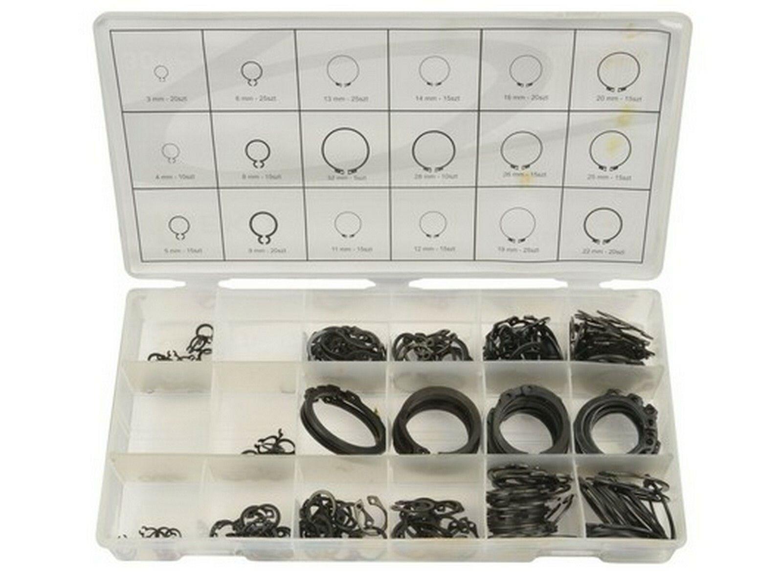 Pojistné kroužky sada 300ks, R1-R19, pr. 3 -32mm, GEKO