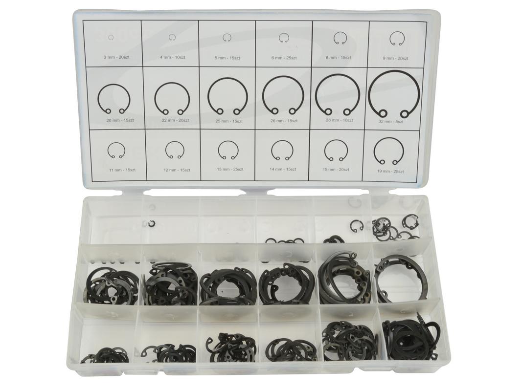 GEKO G02803 Pojistné kroužky sada 300ks, pr. 3 -32mm