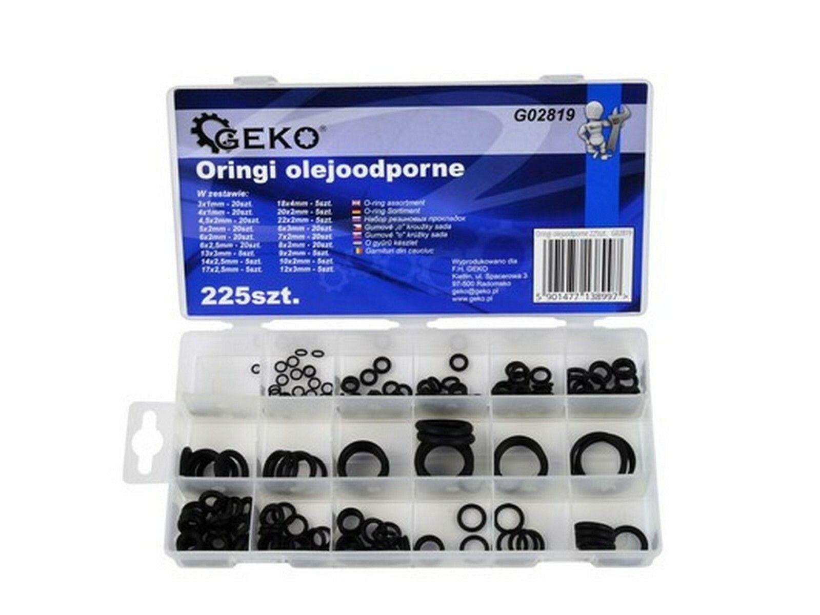 O-kroužky odolné proti olejům 225ks GEKO