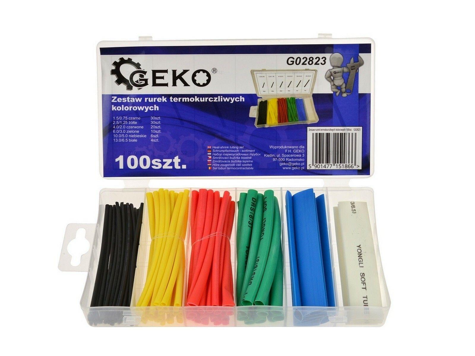 Sada barevných smršťovacích hadiček 100 ks GEKO