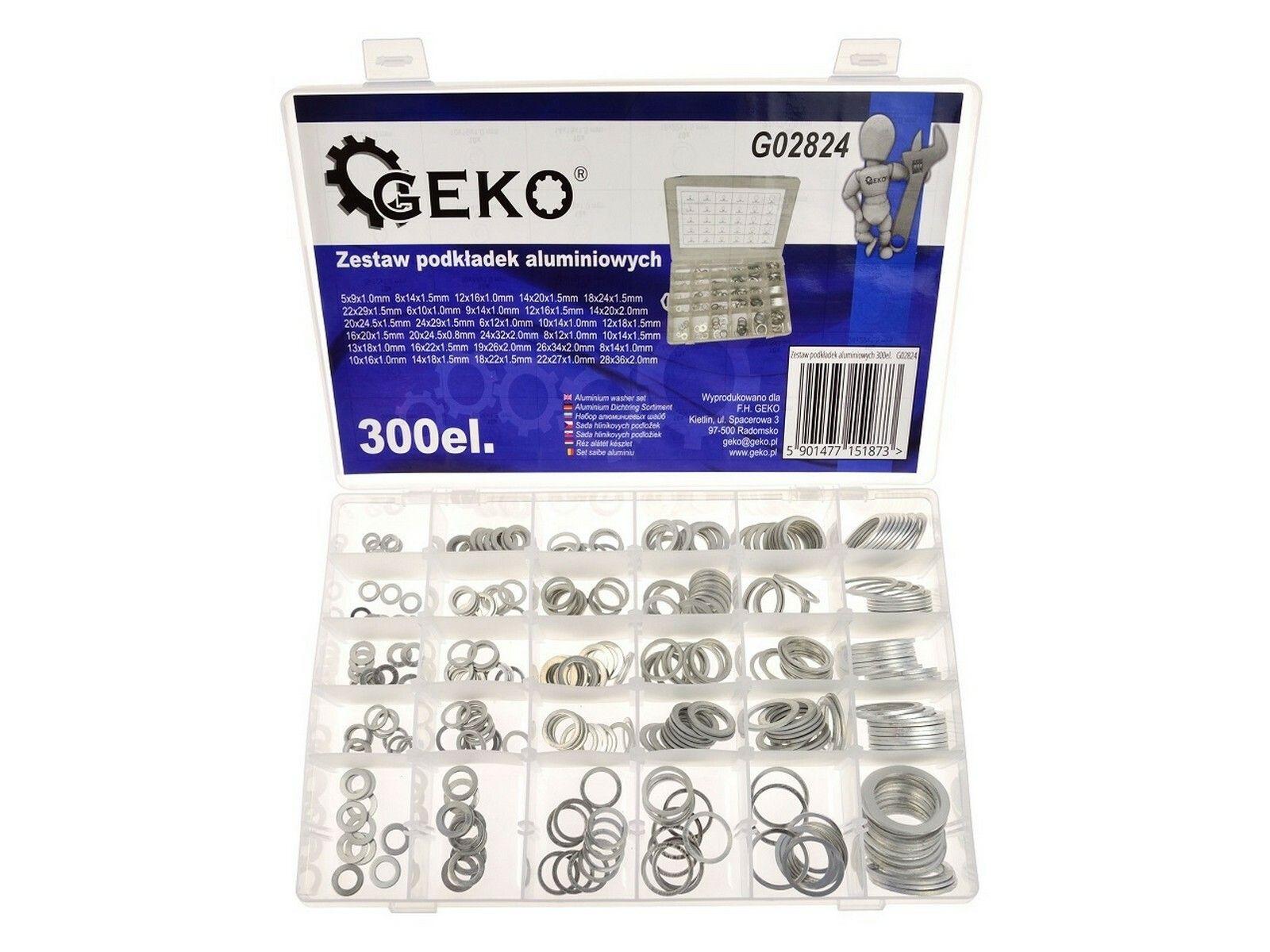 Hliníkové podložky set 300 ks GEKO