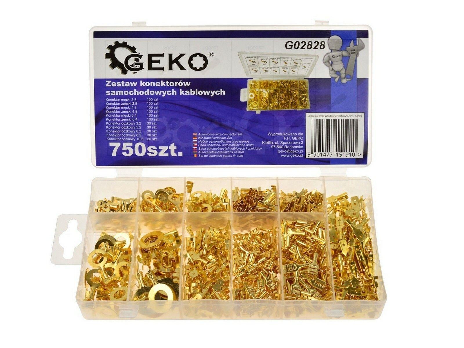 Sada kabelových konektorů 750 ks GEKO