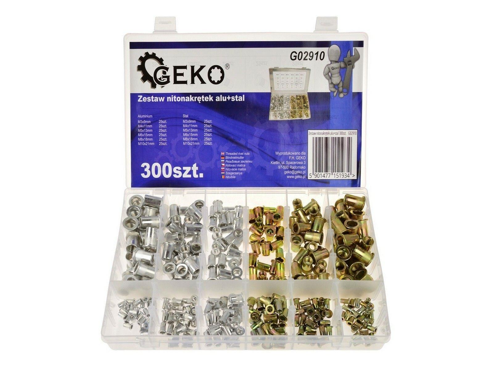 Hliníková nýtová matice + ocel 300 ks GEKO