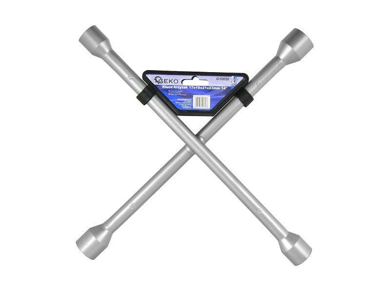Klíč křížový na kola, 17x19x21x22mm, GEKO