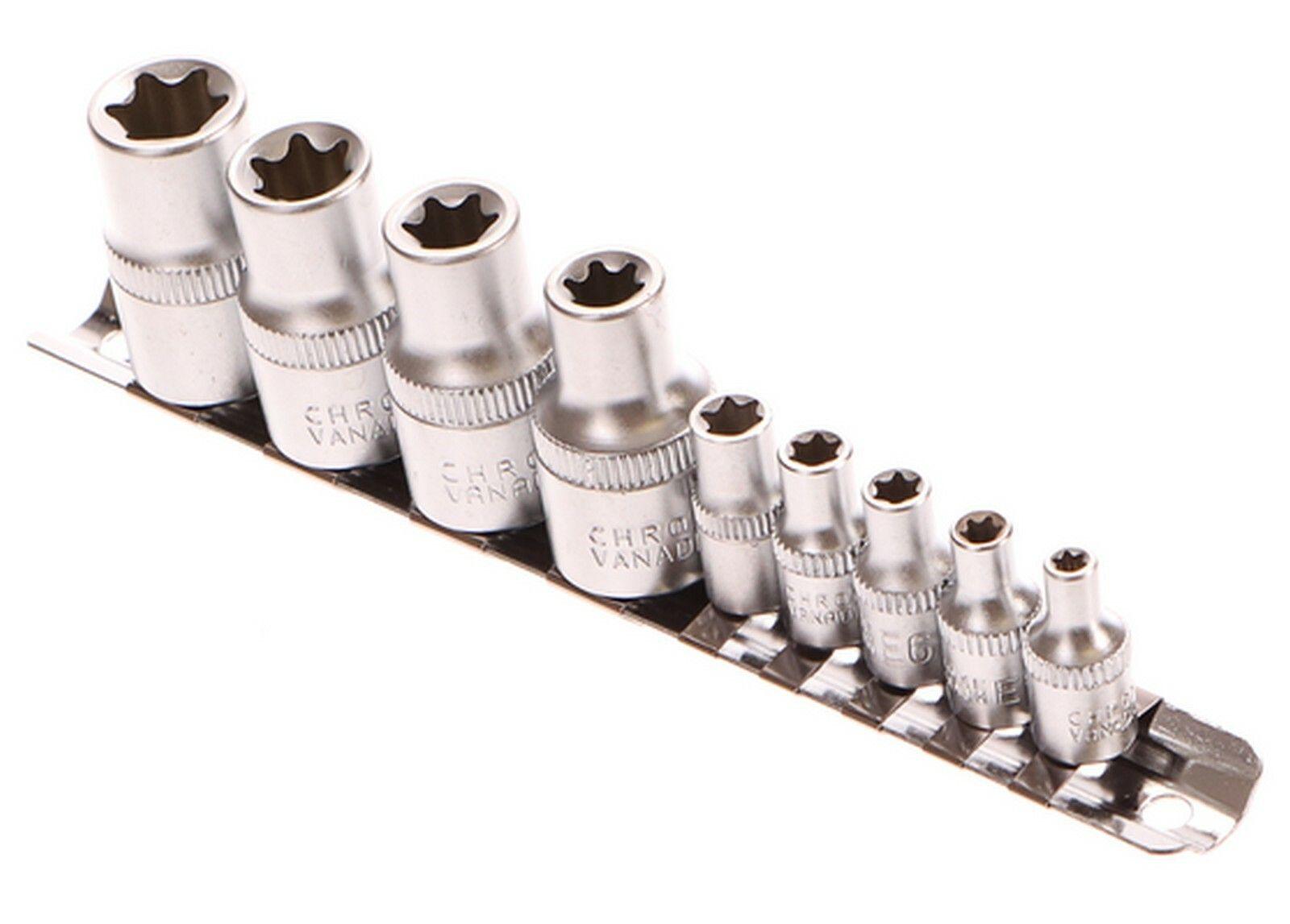 """Sada hlavic torx, 10ks, 10-19mm, 1/4 a 1/2"""", GEKO G10166"""