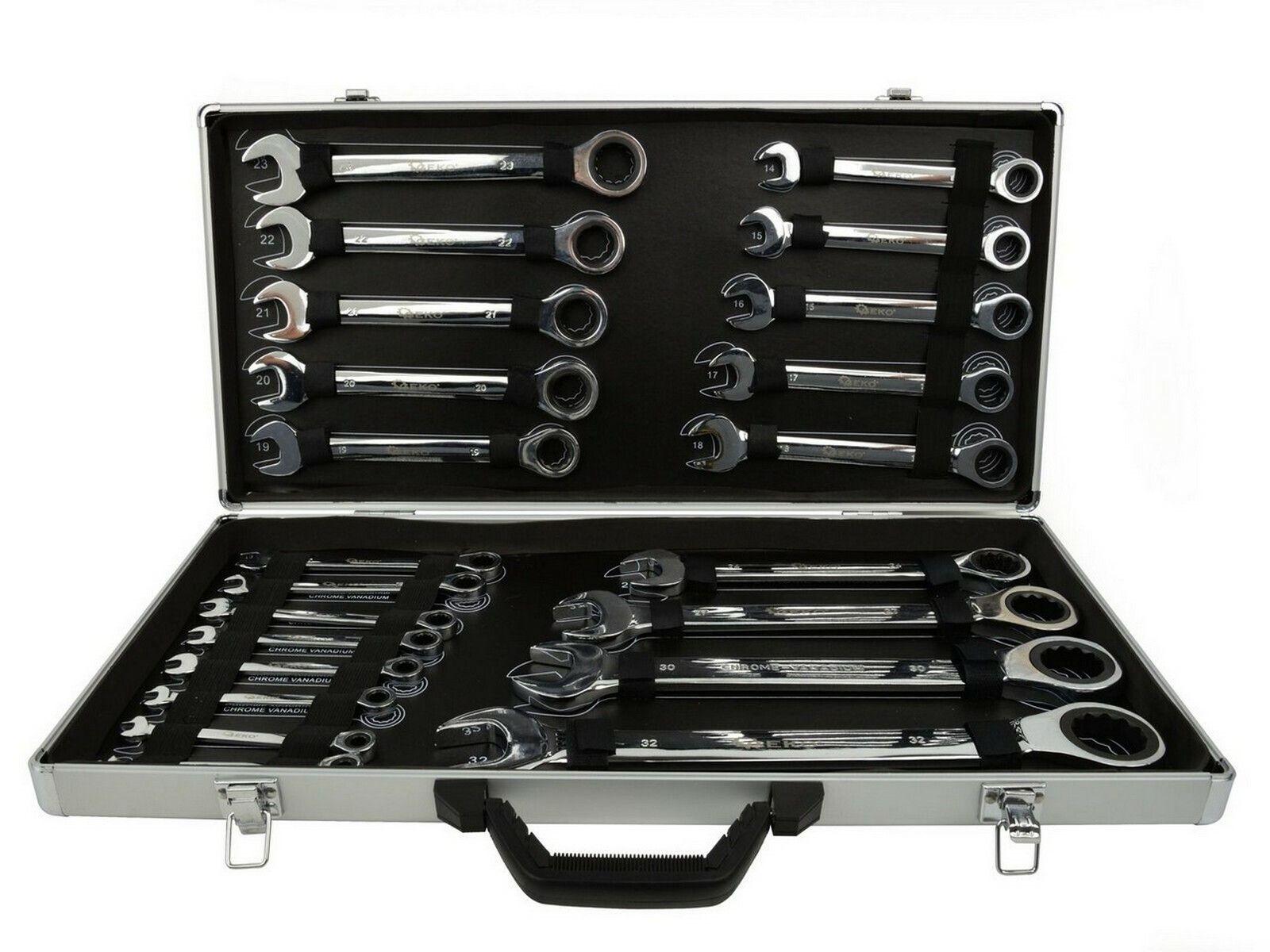 Sada ráčnových klíčů, 22ks, 6-32 mm GEKO