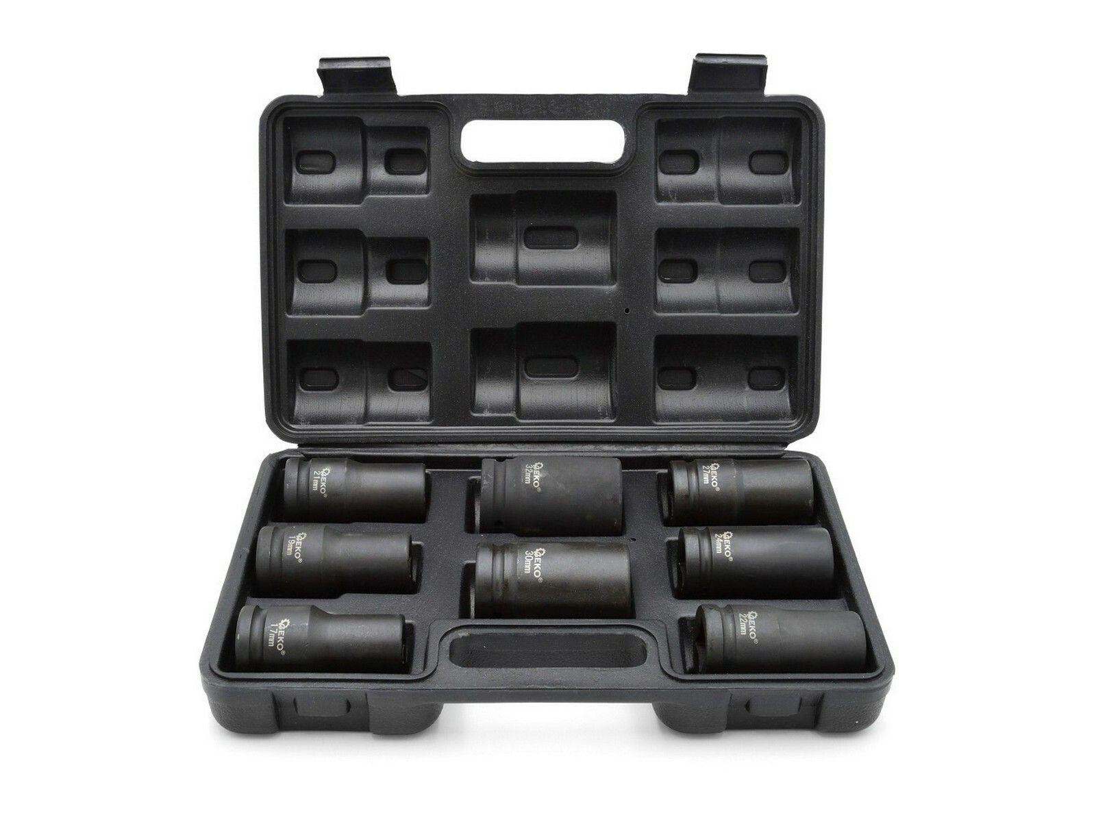 """Sada rázových nástrčných hlavic 3/4""""17-32mm GEKO"""