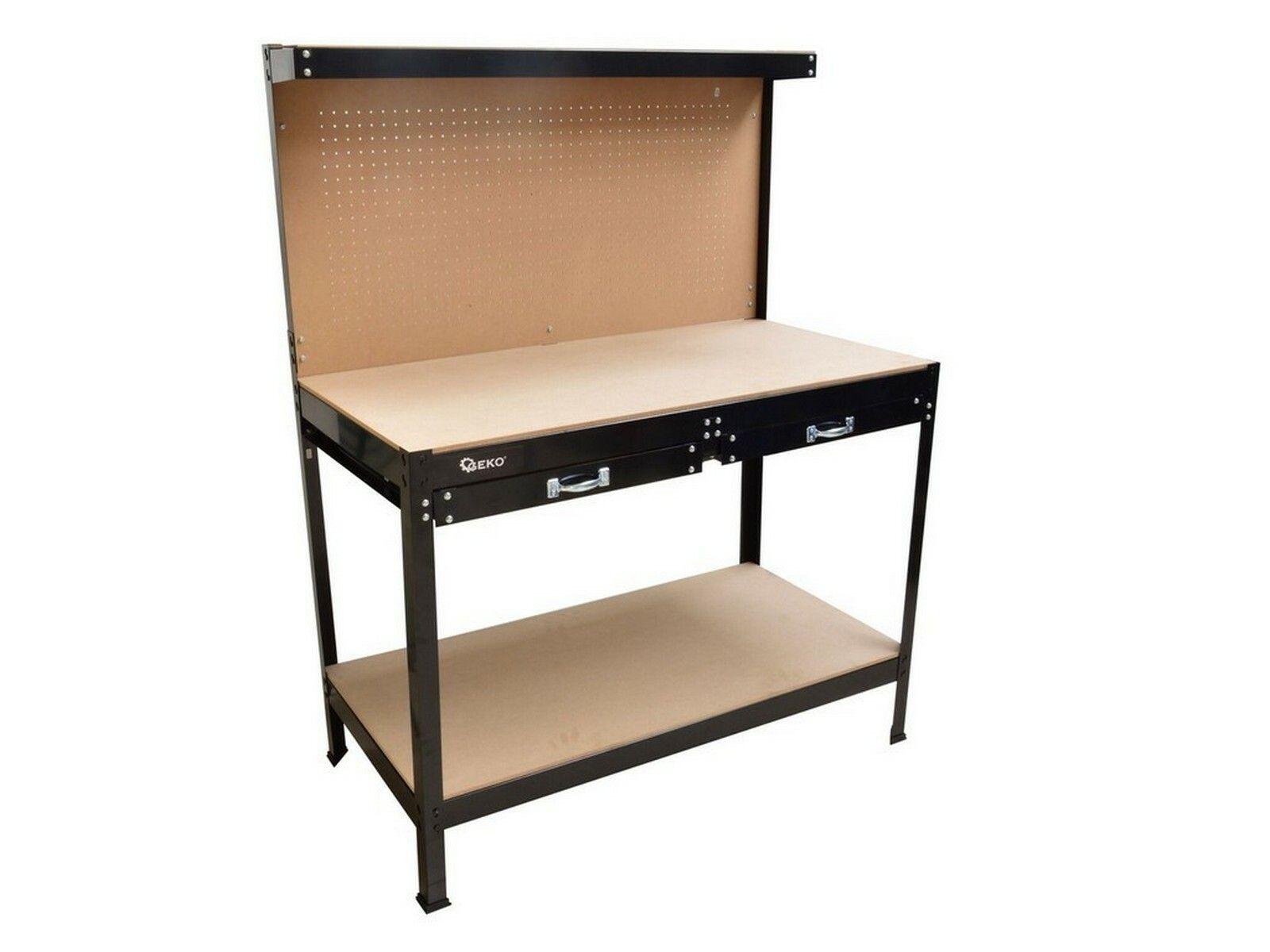 Pracovní stůl, nosnost 100 kg, 2 patra, 1200x600 mm, GEKO