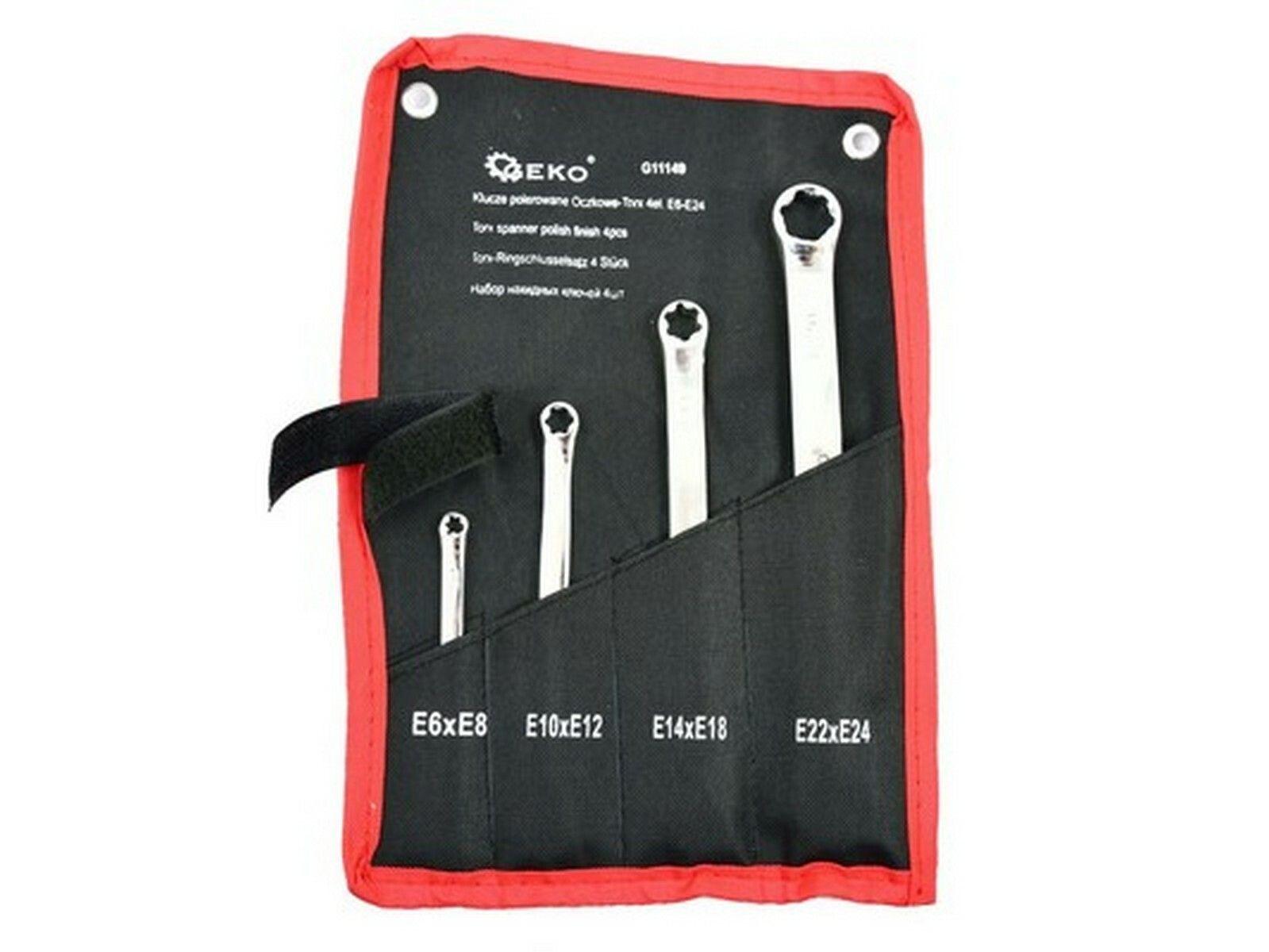 Sada klíčů TORX, 4ks, E6-E24 GEKO