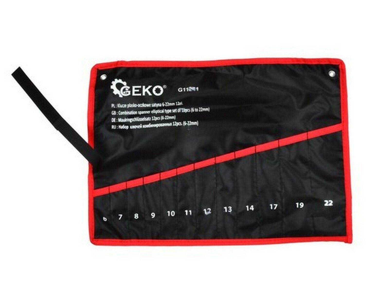 Pouzdro na 12ks klíčů 6-22mm GEKO