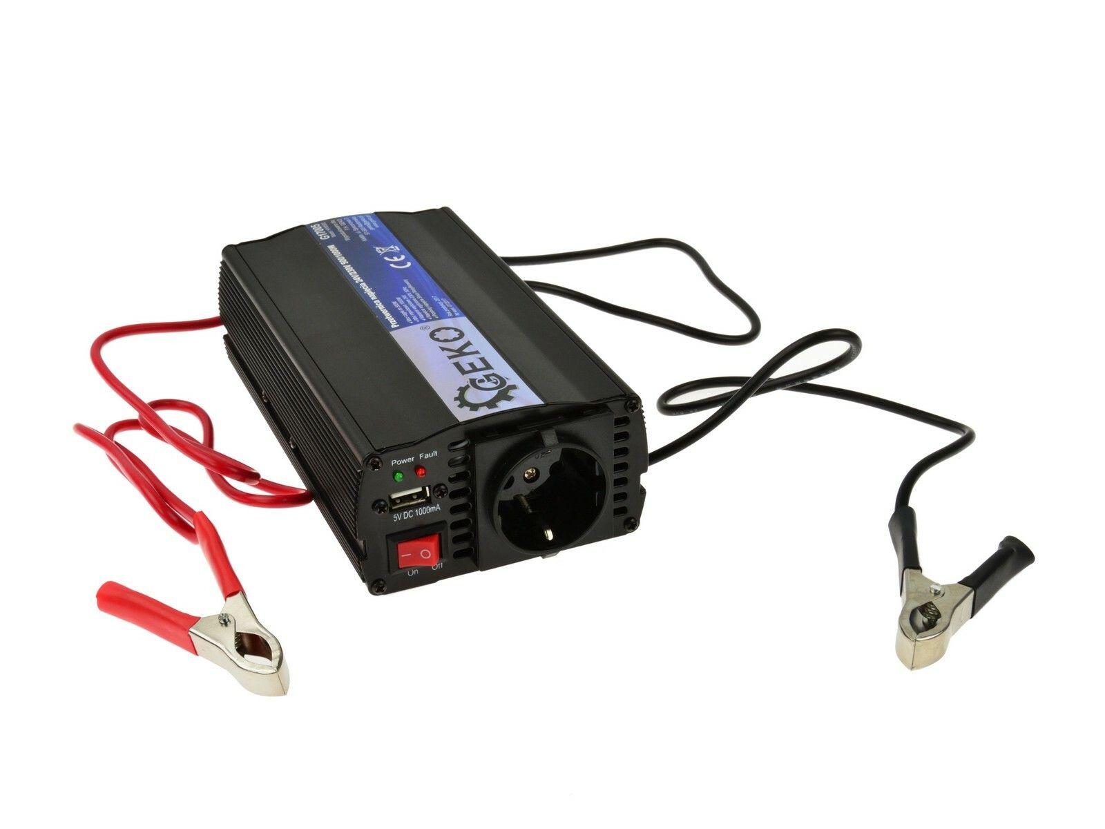 Měnič napětí 24V/230V, 500/1000W GEKO