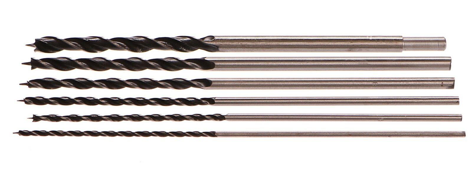 Vrtáky do dřeva, sada 6ks, 4-12mm, délka 300mm GEKO