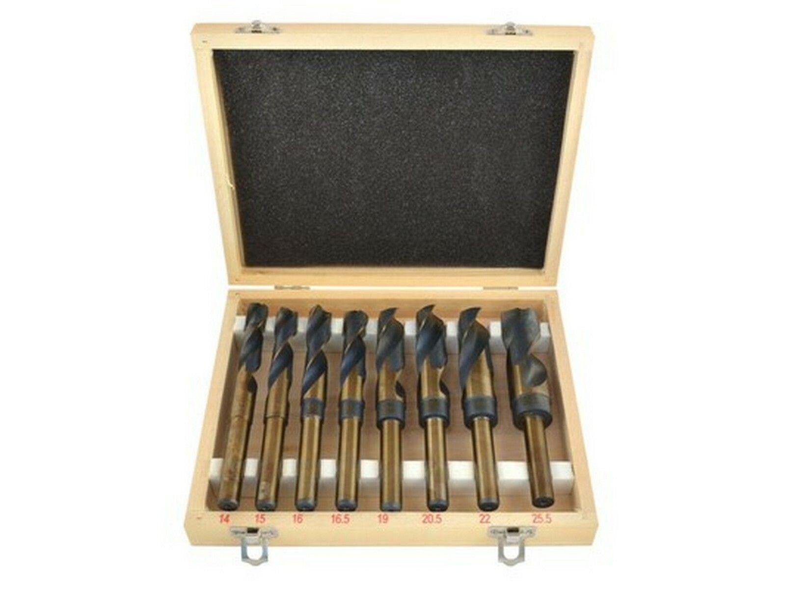 Vrtáky sada 8ks, dřevo a kov, 14-25,5 mm, HSS GEKO
