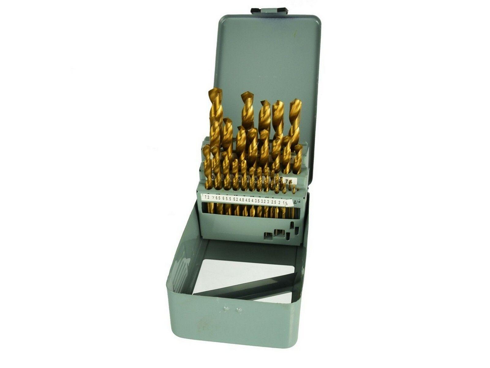 Vrtáky do kovu v kovové krabičce, sada 28ks, 1,5-13mm GEKO