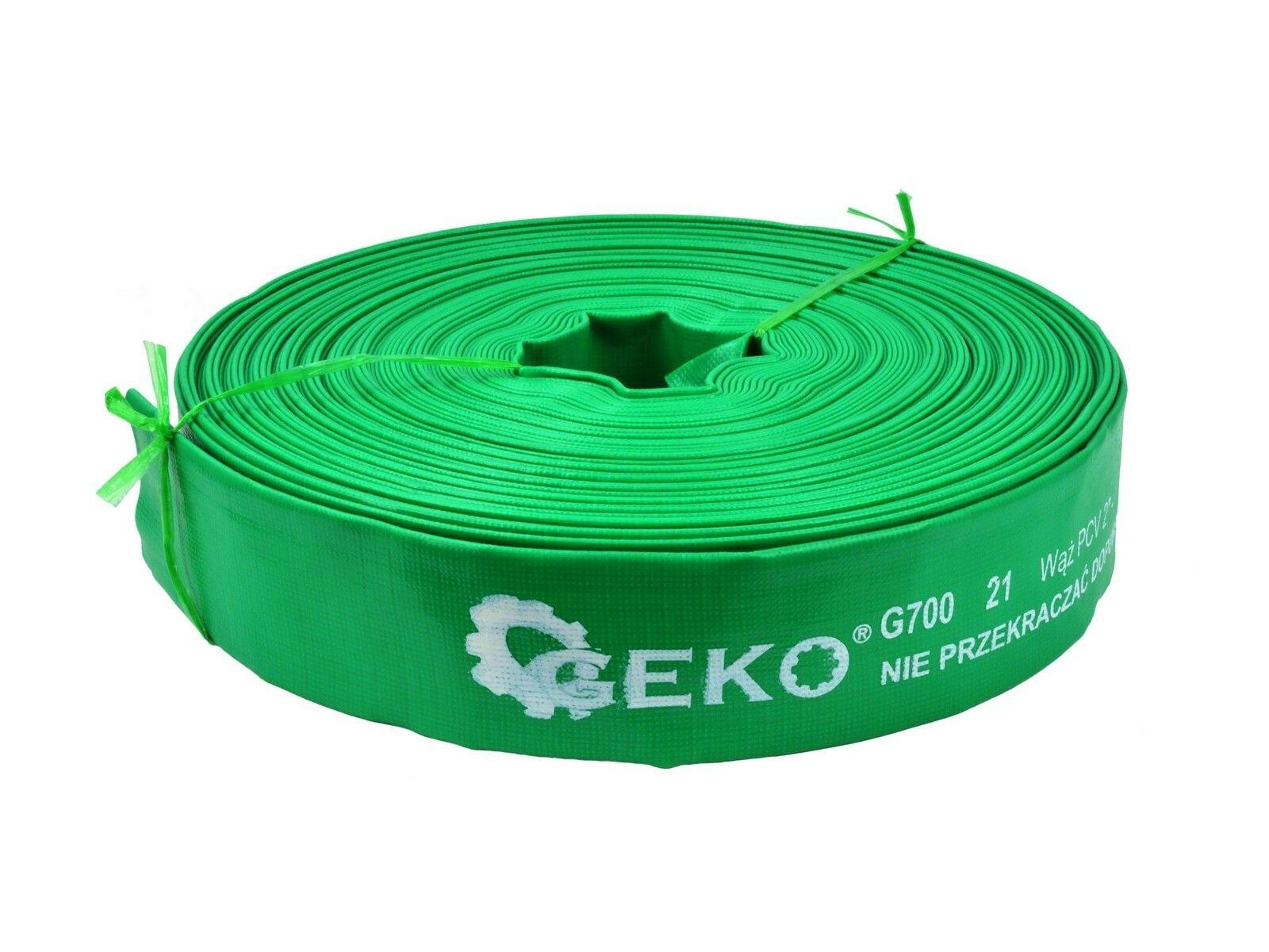 """Hadice bez spojek 50m 2""""2bar zelená GEKO"""